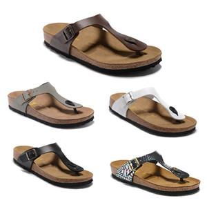 Gizeh Hohe Qualität Markendesigner Männer Sommer Gummi Sandalen Strand Rutsche Mode Abnutzungsschuhe Hausschuhe Größe EUR34-46
