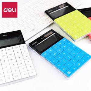Calculadora Deli calculadora de la oficina de manera femenino de Informática de la máquina pequeña portátil Small Computer lindo examen del color del caramelo de Contabilidad La Especial