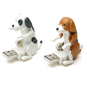 Portátil Mini Lindo USB 2.0 Divertido Humping Spot Dog Rascal Dog Toy Aliviar la presión para el Festival para el trabajador de oficina mejor regalo