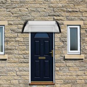 Haushalts Anwendung Tür-Fenster-Regen-Abdeckung Eaves Halter Domestic Eaves Canopy Regenschutz und Sonnenblende Schwarz 100 x 100, im US Lager