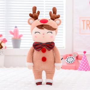 Metoo Plush Toys Angela Natal Dolls Com Box menina de sonho Plush Veados bichos de pelúcia presente para as crianças CJ191212