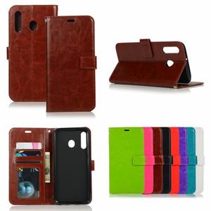 étuis de téléphone pour Samsung S10 e plus étui en cuir portefeuille Crazy Horse Etui pour Samsung A10 A20 A30 A40 A70 A10 M10 M30