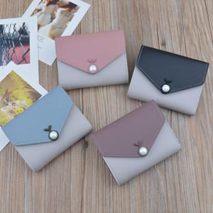 LISM 작은 지갑 2020 새로운 지갑 여성 짧은 귀여운 대비 색의 단순한 성격 미니 동전 지갑
