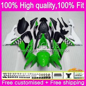 Injection Body For KAWASAKI ZX 10 R ZX1000C ZX10R 08 09 10 66HM.7 ZX 10R 1000CC ZX1000 CC ZX-10R 2008 2009 2010 OEM Fairings Green white