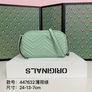 Neue Modedesigner Damen Umhängetasche Gurt Umhängetasche hochwertiges Leder neue Farbe helle Farbe mit Kamerataschen 24cm Handtasche