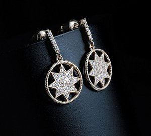 2020 new arrival Korean version top quality hot sale online inlay zircon anise star eariing stud