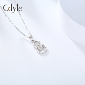 New necklace S925 silver transfer gourd Pendant Crystal Necklace