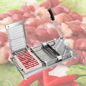 Sıcak ticari stringerler sığır koyun eti şiş manuel et şiş makinesi döner kebap aşınma dize makinesi barbekü çekimi eser