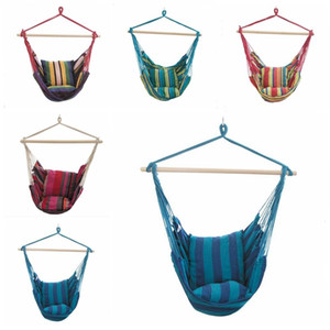 Hamaca colgante recorrido que acampa portable del dormitorio del hogar de la lona Lazy oscilación silla de jardín interior Oscilaciones de moda al aire libre hamaca Silla B7458