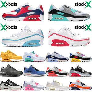 Nike Air Max 90 90s 2020 neue große Größe 36-46 90s Laufschuhe HYPER TURQUOISE Weiß, Blau, Rot Fasahion Marke Triple Black Orange AUS Männer Frauen Kissen Sneakers