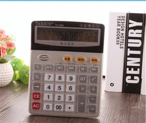 Grande 12 dígitos Humano-som portátil Prático Calculadora Calculadora Office Voz Financeiro Com Backspace Tecla Delete Calculator Bateria