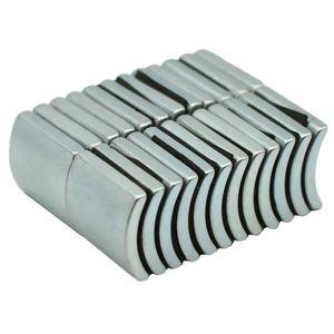 NdFeB Arc Segment OD49xID43x60degx23 mm N38H Diametrically Motor Magnet for Generators Wind Turbine Neodymium Magnet 6pcs