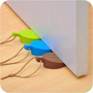 Leaves Silicone Rubber Door Stop Stoppers Door Block Children Anti-Folder Hand Security Card Hanging
