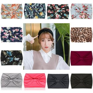 Fashion Floral Turban Headband Running Sport Yoga Elastic Hairband Boho Headwraps for Women Girls Cute Hair Accessories