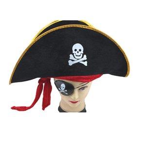 Supplies Acessórios Halloween Crânio Hat Caribe pirata Crânio Pirataria Corsair Cap Pirate Party