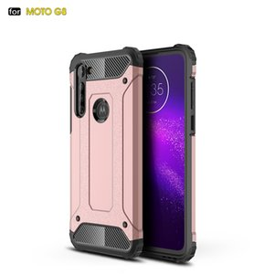Luxury Impact Resistant Silicone Shockproof Phone Case for Moto G8 Rugged Armor Dual Layer Cover Case