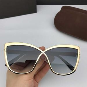 Lunettes de soleil d'été 0715 Top qualité New Mode Tom Cat Eye Sunglasses Lunettes Lady Ford Designer Marque Lunettes de soleil avec la boîte originale