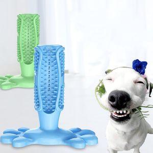 Silikagel Hundezahnbürste Blau Gelb Hunde Molaren Stange Haustiere Zahnreinigung Zahnschutz Spielzeug Neue Ankunft 13zx2 L1