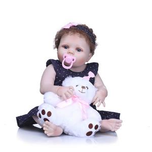 Bebe Reborn 55cm Full Silicone Body Reborn Baby Doll Toy Lifelike Newborn Girl Princess Babies Doll Bath Toy Kid Gift Birthday