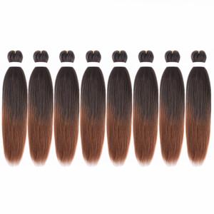 "EZ Braid Pre-Stretched Braiding Hair 8 팩 20 ""전문 가려움 방지 저온 합성 섬유 Braiding Hair Extension"
