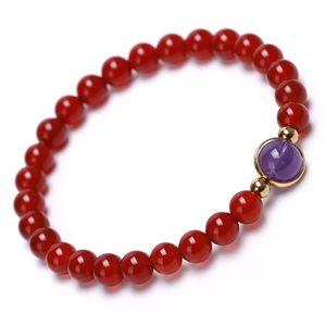 6 milímetros Beads Carnelian cor dourada do metal Malaquita Limpar Quartz Sorte Labradorite Beads pulseira único para mulheres casais jóias