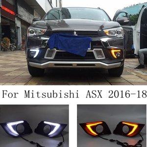 LED DRL Daytime Running Lights Turn Signal Lamp Dual Color Pair for Mitsubishi Outlander Sport ASX RVR 2020 2020