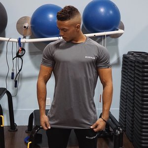 2019 Muscle Fitness Brothers Men's Sports Running Instruments Exercise Fitness Fast Dry Elastic Short Sleeve T-shirt gym fshirt