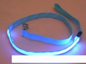 Leash Nylon LED Light Up Dog Collar Segurança LED piscando brilho Dog In Dark Night Pet Shop Cat Drawing pequena vantagem Leash Dog LED