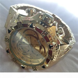 Swiss cosc brand INVICTA LOGO Very large rotating dial super quality Men's watch Tungsten steel Multifunction Gold quartz watch