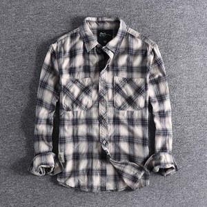 2019 новое прибытие мода рубашка, молодежная рубашка, повседневная одежда, Мужская блузка с длинными рукавами плюс размер высокое качество дешевые топы оптом T200417