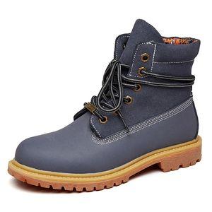 Genuine Leahter Women's Ankle Boots Fashion Brand Women martin boot 2019 Winter Warm Woman Shoes Lady Footwear Plus Size35-44