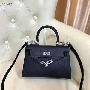 Palmar strie pelle bovina Hardware borsa di cuoio di modo borsa borse di Crossbody delle donne di alta qualità bolsos
