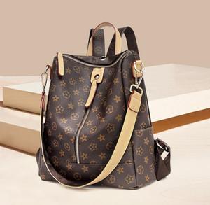 Son çıkan bayanlar moda sırt çantası baskı tek çekme sırt çantası seyahat açık çantası çok çanta büyük kapasiteli banliyö çanta ücre ...