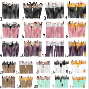 20pcs set Maquiagem Profissional Brushes Set Pó Foundation Eyeshadow compo escovas Cosméticos macio cabelo sintético