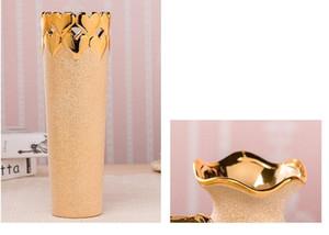 100% новый позолоченный керамический Ваза Home Decor Creative Design Фарфор декоративный цветок Ваза для украшения венчания
