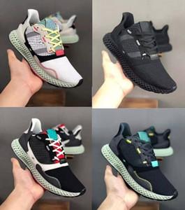 2019 Konsorsiyum ZX 4000 Futurecraft Erkekler Için 4D Koşu Ayakkabıları BD7931 ZX4000 Tasarımcı Eğitmen Spor Sneakers Chaussures Zapatillas