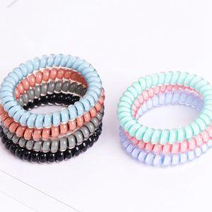 7colors téléphone Cordon Gum Cravate cheveux filles Bande élastique cheveux anneau corde bonbons couleur Bracelet extensible Parti Scrunchy Cadeaux RRA2755