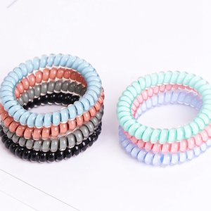 7colors Telefone Fio cabo Gum laço de cabelo Meninas Elastic Faixa de Cabelo Anel Rope presentes dos doces cores pulseira elástico Scrunchy Partido RRA2755