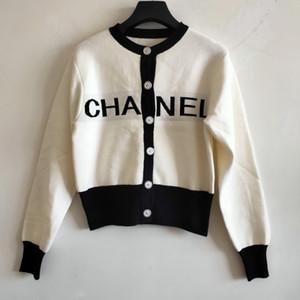 무료 배송 2020 봄 블랙 / 블루 / 레드 편지 봄 여성 가디건 브랜드 같은 스타일 여성의 스웨터를 인쇄 030829