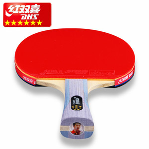 DHS Double Happiness MA LONG DING NING 6 star professional table tennis racket double reverse Ping Pong Racket fast loop T190927