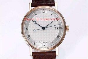MKS CLASSIQU 5177BR reloj ultra delgado reloj del reloj mecánico automático de zafiro Cal.777Q CNC talla correa de cocodrilo de oro rosa
