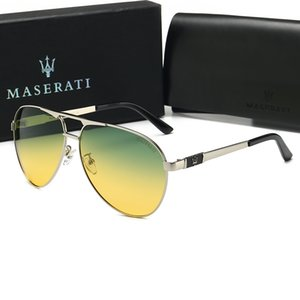 0133 Maserati Estilo caliente Ray Fashion Trend Gafas de sol 61 mm Lentes 8 Color Sunglasses Hombres Mujeres Estilo caliente Trend Trend Designer Sunglasses