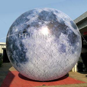 شحن مجاني 5M القطر LED المضاء نفخ تسعة كوكب بالون، نفخ النظام الشمسي الكواكب للديكور نفخ الكرة القمر