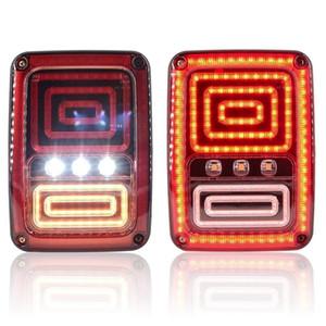 Encienda la serpiente del estilo LED de freno de la cola de señal de luz para Jeep Wrangler JK 2007 2008 2009 2010 2011 2012 2013 2014 2015 2016 2017
