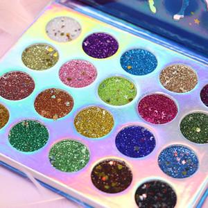 Modası Denizkızı Göz Farı Makyaj paleti 20 Renkler Sequins Göz Farı Işıltılı Yaz Makyaj Glitter Su geçirmez Gözler Güzellik