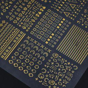 30Sheet / Set prego adesivos Flor 3D Rivet Moon Star ocas de ouro decalques adesivo Hot Stamping Manicure Nail Art Decoração KG / 91