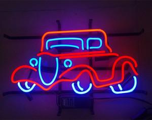 """17 """" x14 """" гараж автомобиля стеклянная трубка стены декор искусства визуальный пивной бар паб авто клуб неоновый свет знак"""