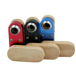 Pieghevole Rotazione fumo Moda tubo Mini legno staccabile lega di alluminio palmari Pipe Smoking policromatica Accessori WY136Q