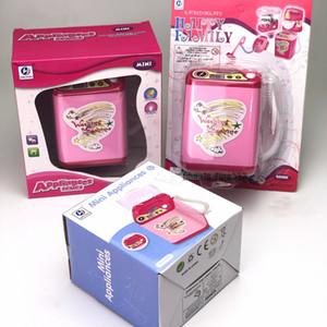 Bambini elettrico giocattolo educativo Mini lavatrice finta giocattolo Rosa Blu Nero bambini giocano regalo del giocattolo della Camera Ragazze Dirthday