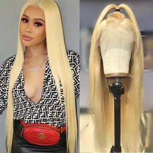 613 Blonde Straight полные парики шнурка Glueless бразильский Remy человеческих волос полные парики шнурка Pre-сорвала с ребенком волос 150% Плотность